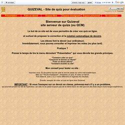 QUIZEVAL - Site de quiz pour évaluation