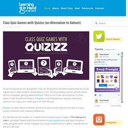Class Quiz Games with Quizizz (an Alternative to Kahoot)