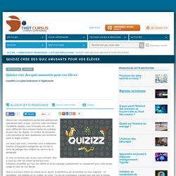 Quizizz crée des quiz amusants pour vos élèves