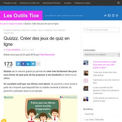 Quizizz. Créer des jeux de quiz en ligne