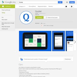Quizlet - Aplikacje Android w Google Play