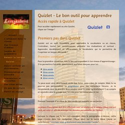 Quizlet - Le bon outil pour apprendre - Site de lernzauberei !