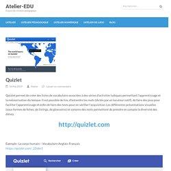 Quizlet – Atelier-EDU