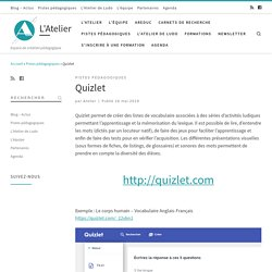 Quizlet – L'Atelier