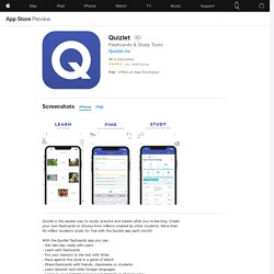 Quizlet on the AppStore