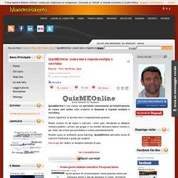 QuizMEOnline: creare test a risposta multipla o vero/falso