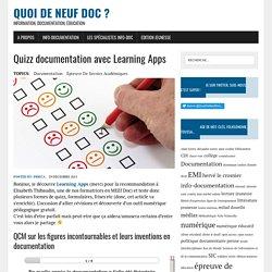 Quizz documentation avec Learning Apps