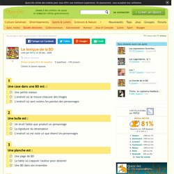 Quizz Le lexique de la BD - Quiz Bandes dessinées