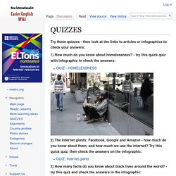 QUIZZES - New Internationalist Easier English Wiki