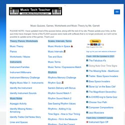 Music Tech Teacher, Music Quizzes, Games, Pianos, Worksheets