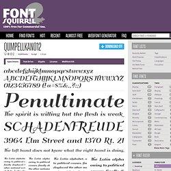 Free Font QumpellkaNo12 by GLUK fonts
