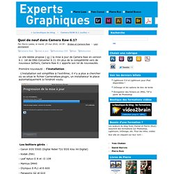 Quoi de neuf dans Camera Raw 6.1? - experts-graphiques.com