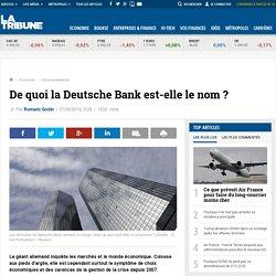 De quoi la Deutsche Bank est-elle le nom ?