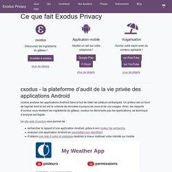 Quoi · Exodus Privacy