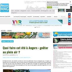 Quoi faire cet été à Angers : goûter au plein air ?