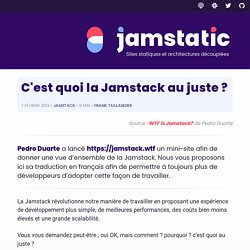 C'est quoi la JAMstack au juste ? · Jamstatic