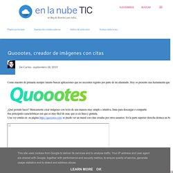 Quoootes, creador de imágenes con citas