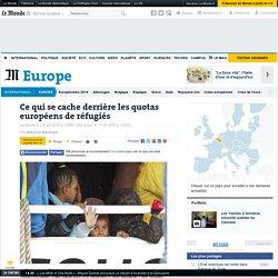Ce qui se cache derrière les quotas européens de réfugiés