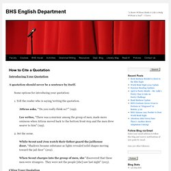 BHS English Department
