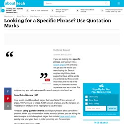 Using Quotation Marks to Web Search Specific Phrases