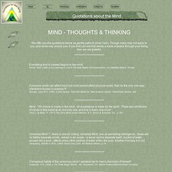 Quotations About Mind - Foundation For Well Being Center