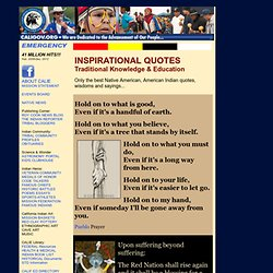 ONLY THE BEST NATIVE AMERICAN INDIAN QUOTATIONS Modern & Traditional Words of Guidance...
