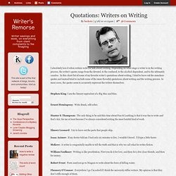 Quotations: Writers on Writing