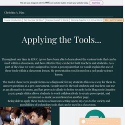 Christina A. Diaz Final Website