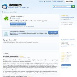 QuoteCollapse :: Modules pour Thunderbird
