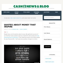 Quotes about Money That Inspire