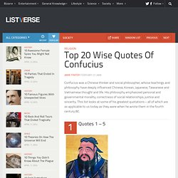 Top 20 Wise Quotes Of Confucius