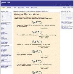 Men and Women Quotes, Page 2 - Jim's Favorite Famous Quote, Quip, Axiom, and Maxim Repository - jimpoz.com