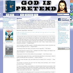 Quotes & God is Pretend