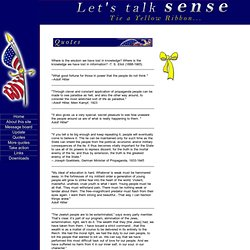 Quotes - Let's Talk Sense
