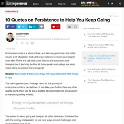 10 Quotes on Persistence to Help You Keep Going