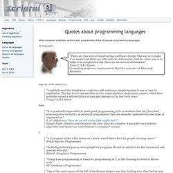 Quotes about programming languages