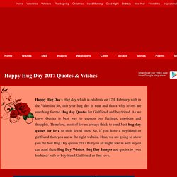Hug Day 2017 Quotes Wishes, Hug Day Images Walllapers