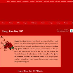 Happy Rose Day Quotes Wishes, Rose Day 2017 Images Wallpapers