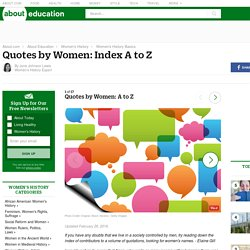 Quotes by Women: Index A to Z