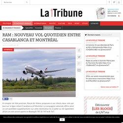 RAM : Nouveau vol quotidien entre Casablanca et Montréal