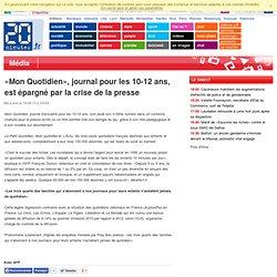 «Mon Quotidien», journal pour les 10-12 ans, est épargné par la crise de la presse