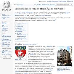 Vie quotidienne à Paris du Moyen Âge au XVIIIe siècle