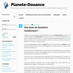 Des tests de Quotient Intellectuel ? | Planète-Douance Planète-Douance