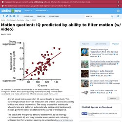 Motion quotient: IQ predicted by ability to filter motion (w/ video)