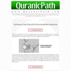 Continuous, Daily Discomfort Circumcised Men Experience