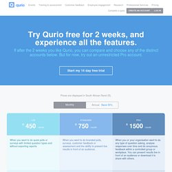 Qurio - Insights Start with Questions - Ask with Qurio