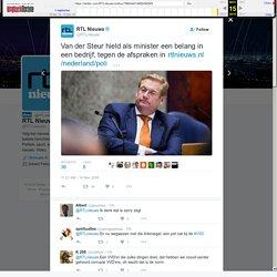"""RTL Nieuws on Twitter: """"Van der Steur hield als minister een belang in een bedrijf, tegen de afspraken in"""