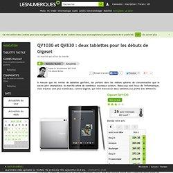 QV1030 et QV830 : deux tablettes pour les débuts de Gigaset