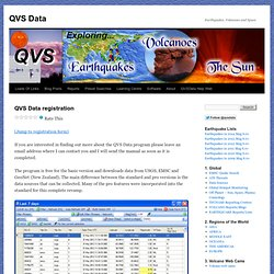 QVS Data registration