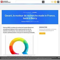 Qwant, le moteur de recherche made in France, testé à Bercy